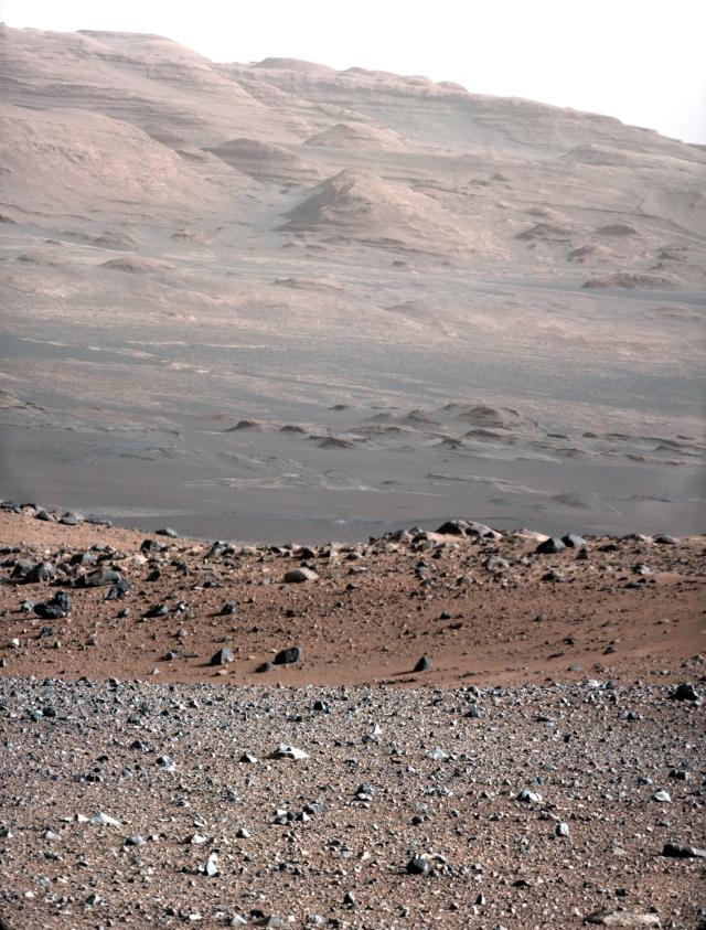 La MastCam de Curiosity capte une image impressionnante du Mont Sharp