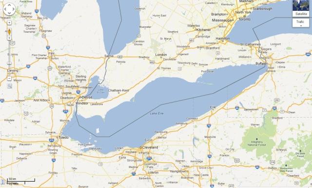Lac Érié Maps