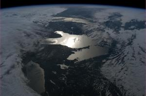 Photo satellite grands lacs Chris Hadfield