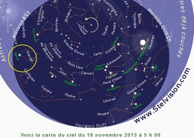 Position ISON le 18 novembre